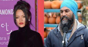Rihanna Is Following Canadian Politician NDP Leader Jagmeet Singh On Instagram