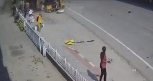 Car Flies Off Of Bridge Landing On Street Below Ending In Horrible Tragedy